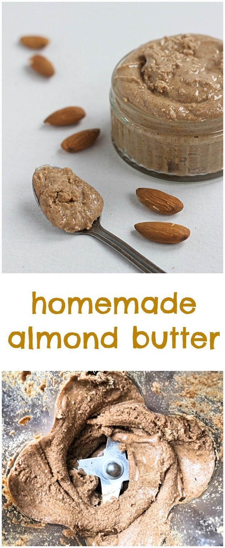 almond butter made in 60 seconds. Delicious and so easy to make with a high powdered blender. All you need is almonds and a pinch of salt.