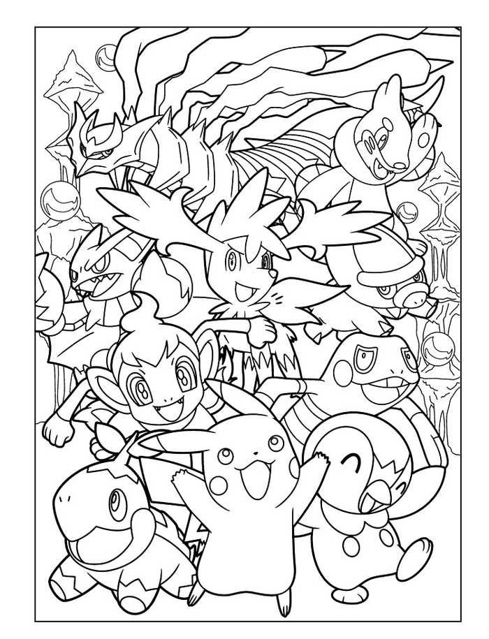 Pikachu Characters Coloring Pages Collection