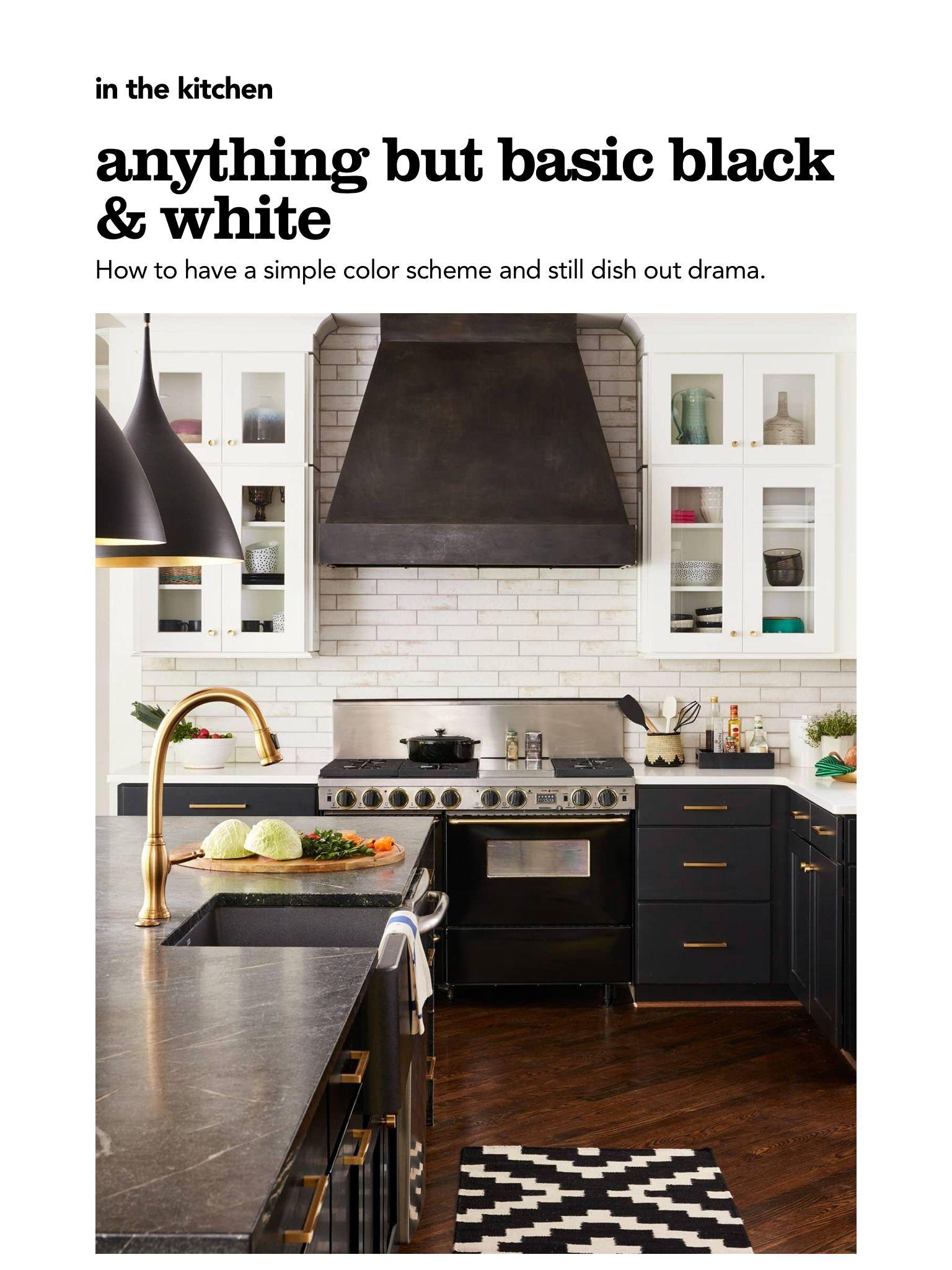 Anything But Basic Black White From Hgtv Magazine May 2018