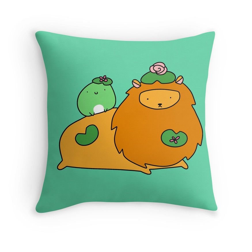 Lily Pad Lion And Frog Lily Pads Frog Throw Pillows