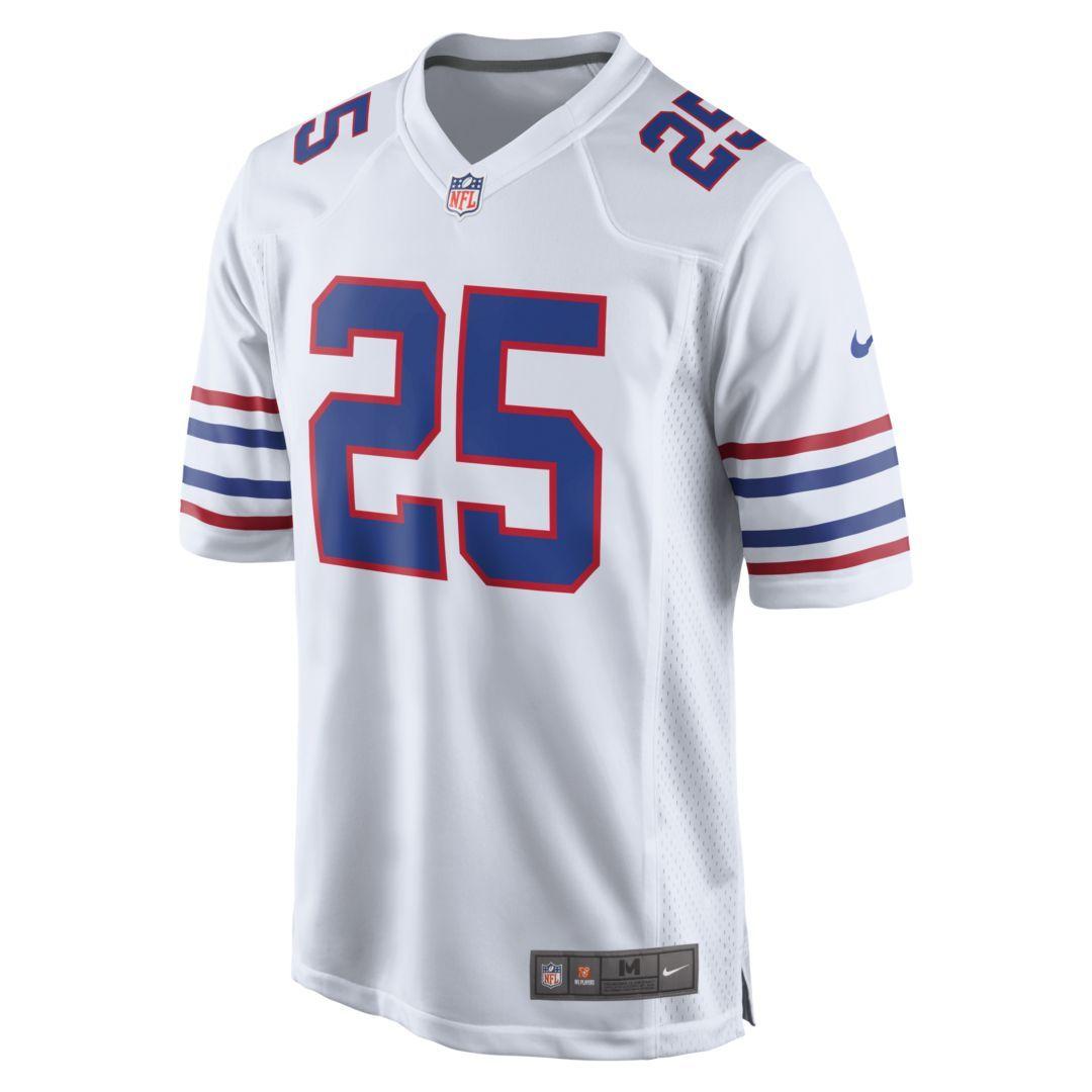 46d5666b2d3 NFL Buffalo Bills (LeSean McCoy) Men's Football Alternate Game Jersey Size  XL (White)