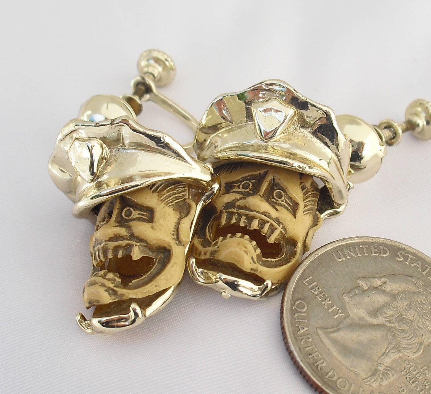 Florenza Noh Devil Mask Earrings