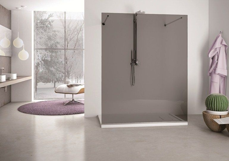 Pareti Per Doccia In Vetro : Parete per doccia in vetro solodoccia separÈ sp0 by megius design