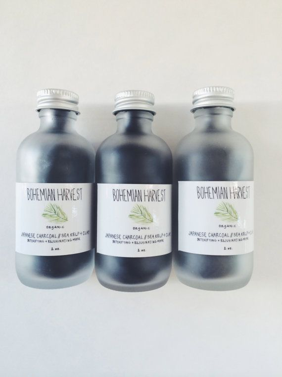 JAPANESE CHARCOAL  KELP  clay // organic by bohemianharvest