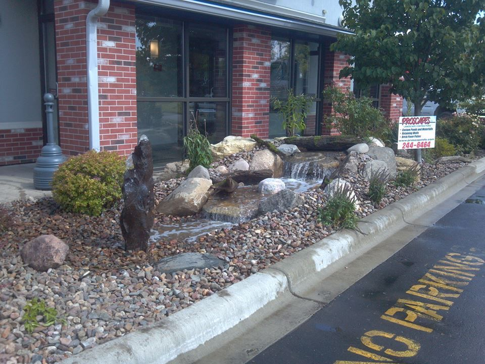 Waterfall created by Proscapes LLC in Madison, WI. #WaterfallWednesday
