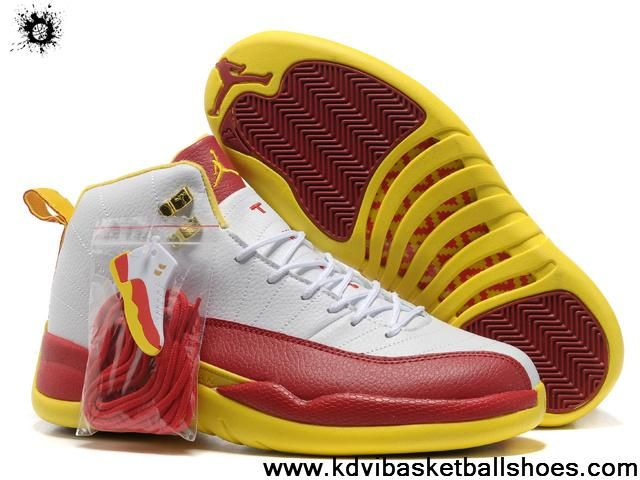 buy popular 31382 12e91 ... promo code for buy new air jordan 12 dwayne wade pe white red yellow  newest now