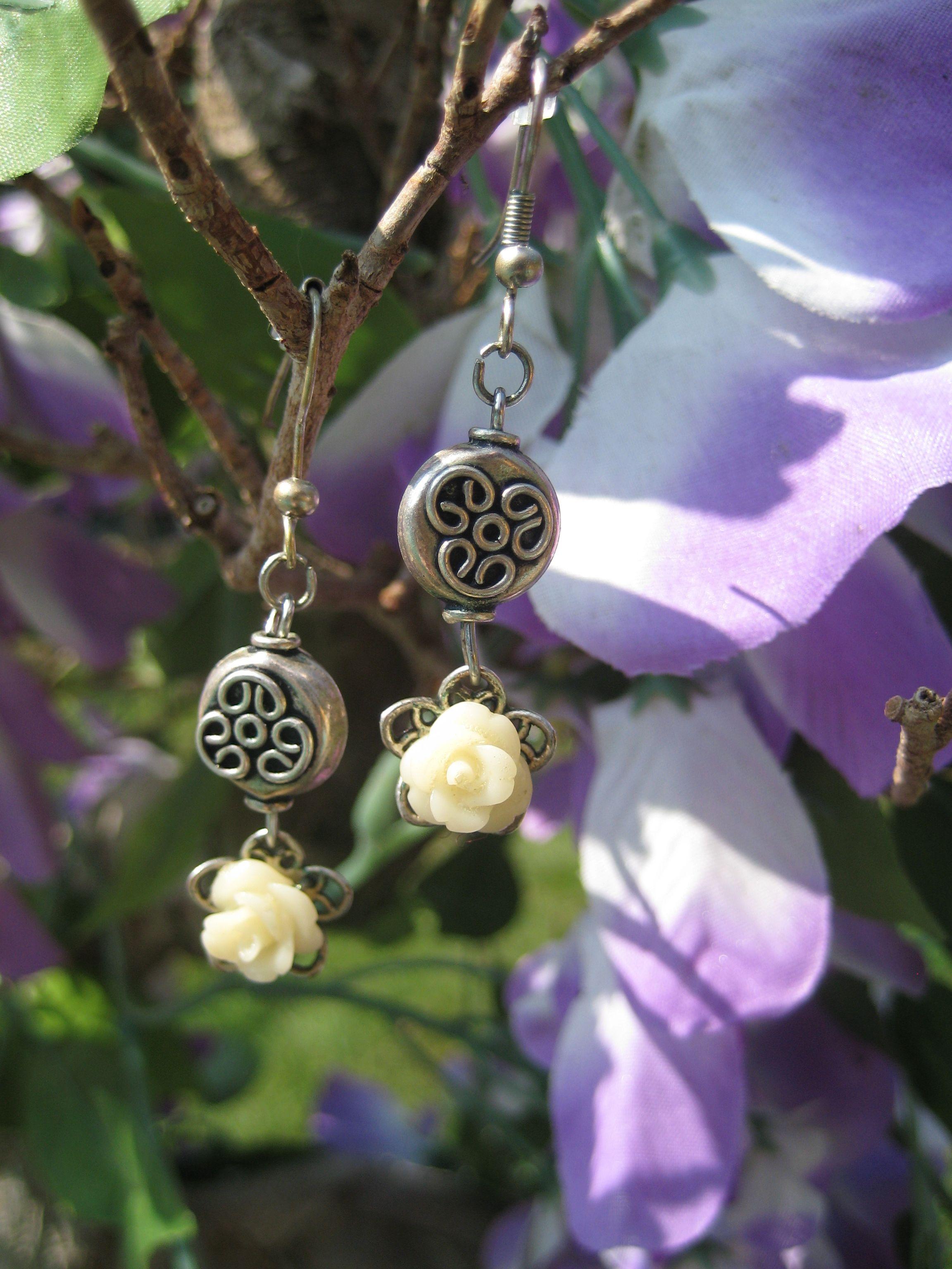 oorbellen met roosjes