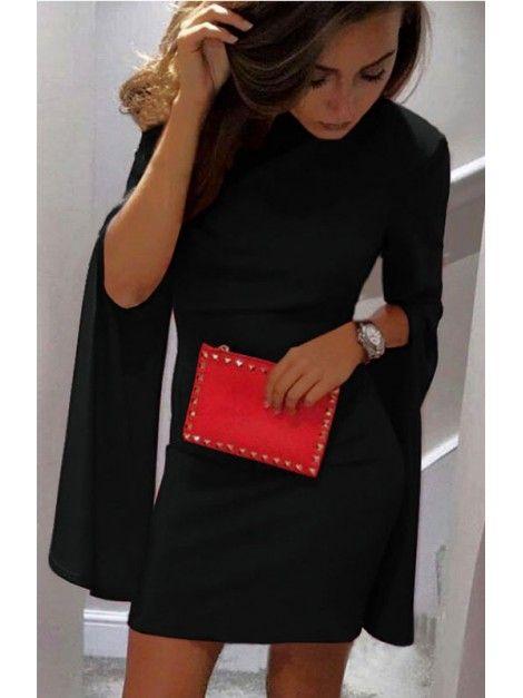35ebec9f4c8c19 Elegancka sukienka z rozciętymi rękawami S/M w 2019 | sukienki z ...