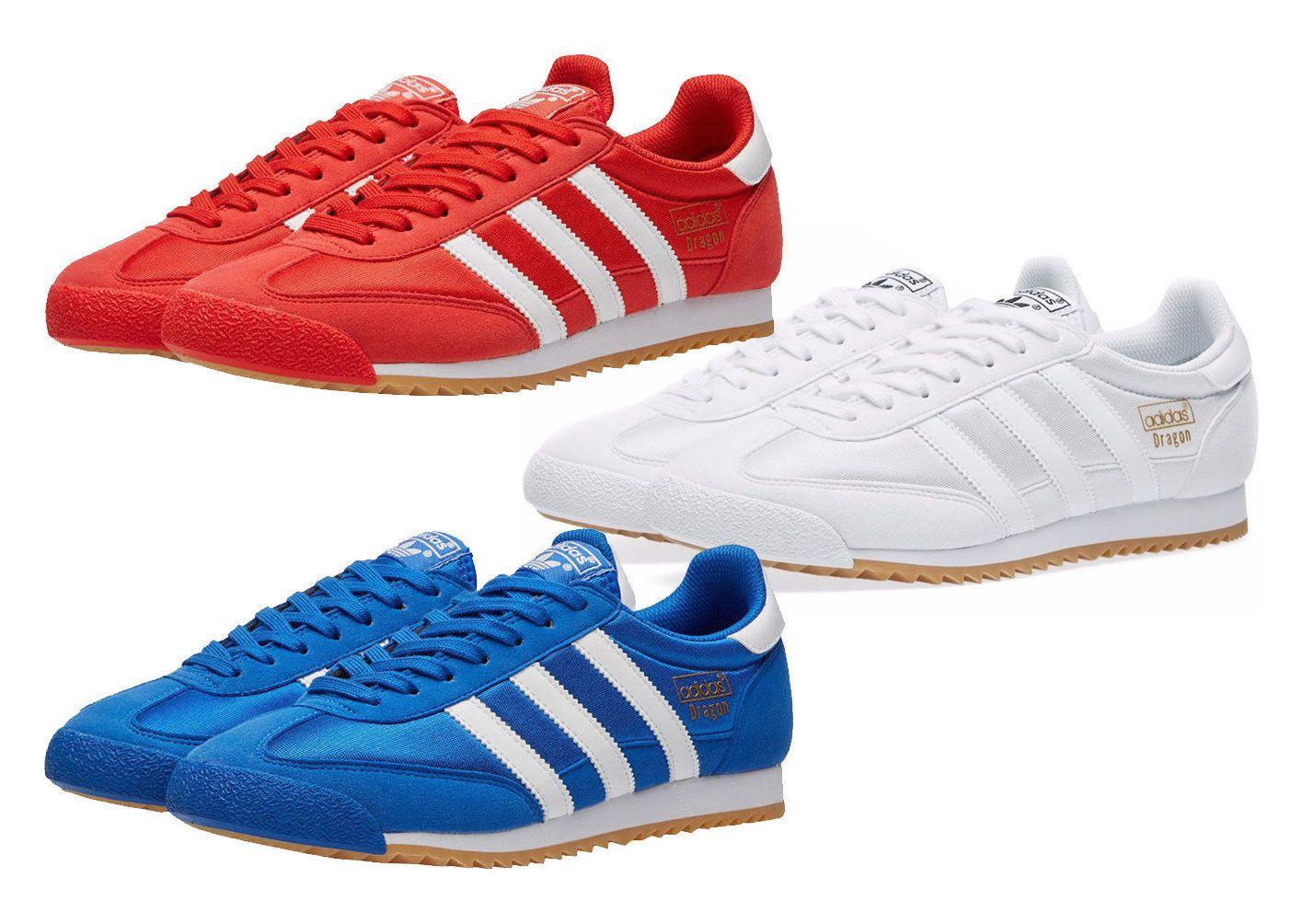 New ADIDAS Originals Dragon Mens Sneaker Superstar red blue ...