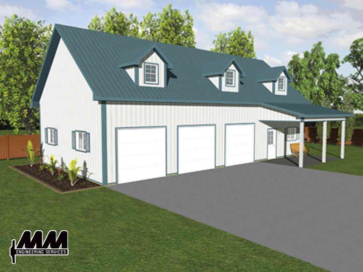 3 Car Garage With Loft | MENARDS GARAGE PLAN « Floor Plans | Garage ...
