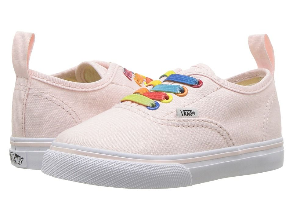 08ccd4ef47a6 Vans Kids Authentic Elastic Lace (Infant Toddler) Girls Shoes (Rainbow  Shine) Heavenly Pink True White