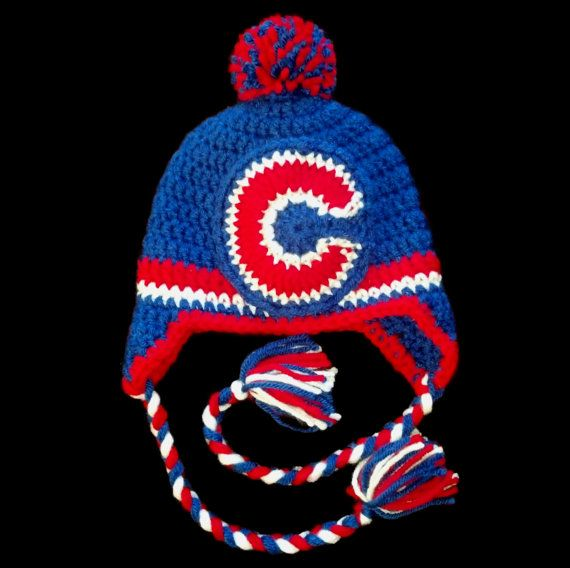 Chicago Cubs Baseball Crochet Winter Hat - Adult d6f03ef4823