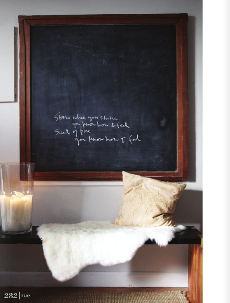 Chalk boards seem a little too messy in my opinion, but they do add a cool touch to spaces.