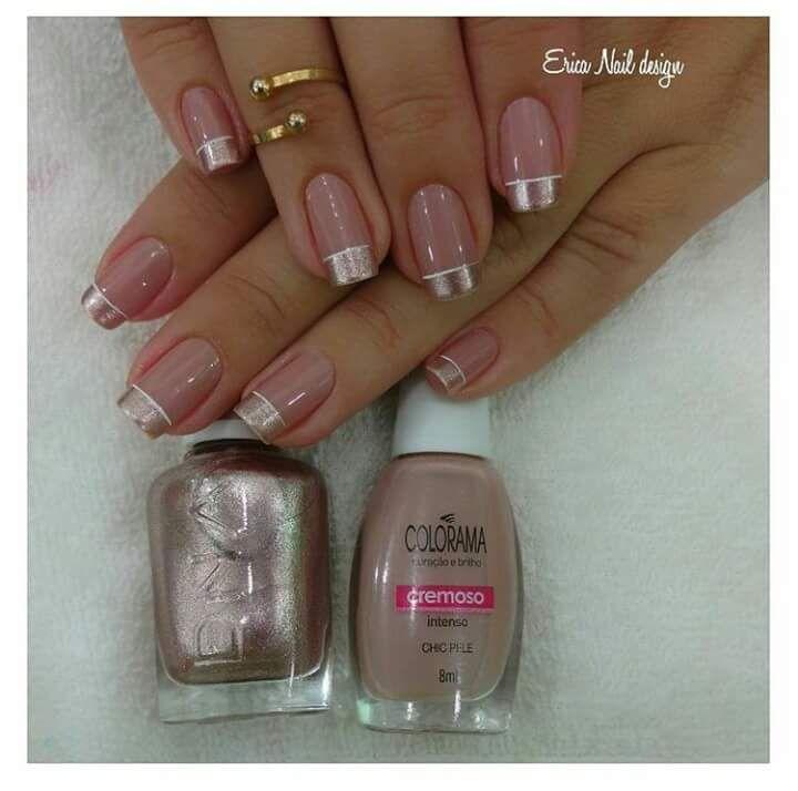 Francesinha Metálica   Nails   Pinterest   Esmalte, Diseños de uñas ...