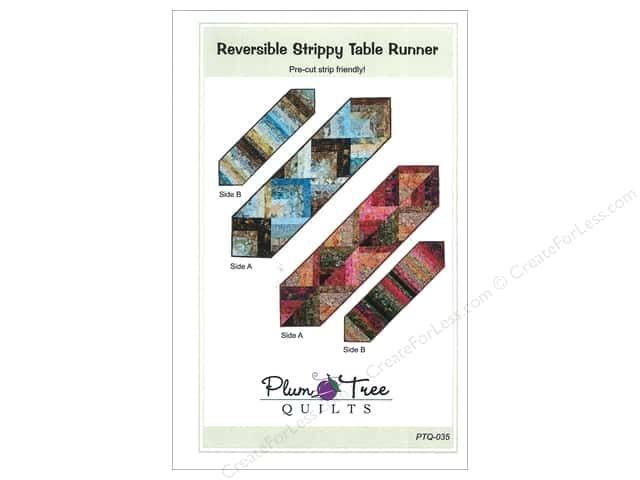 Plum Tree Quilts Reversible Strippy Table Runner Pattern