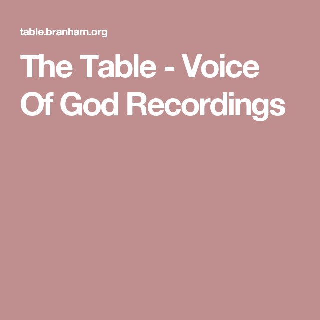 the table voice of god