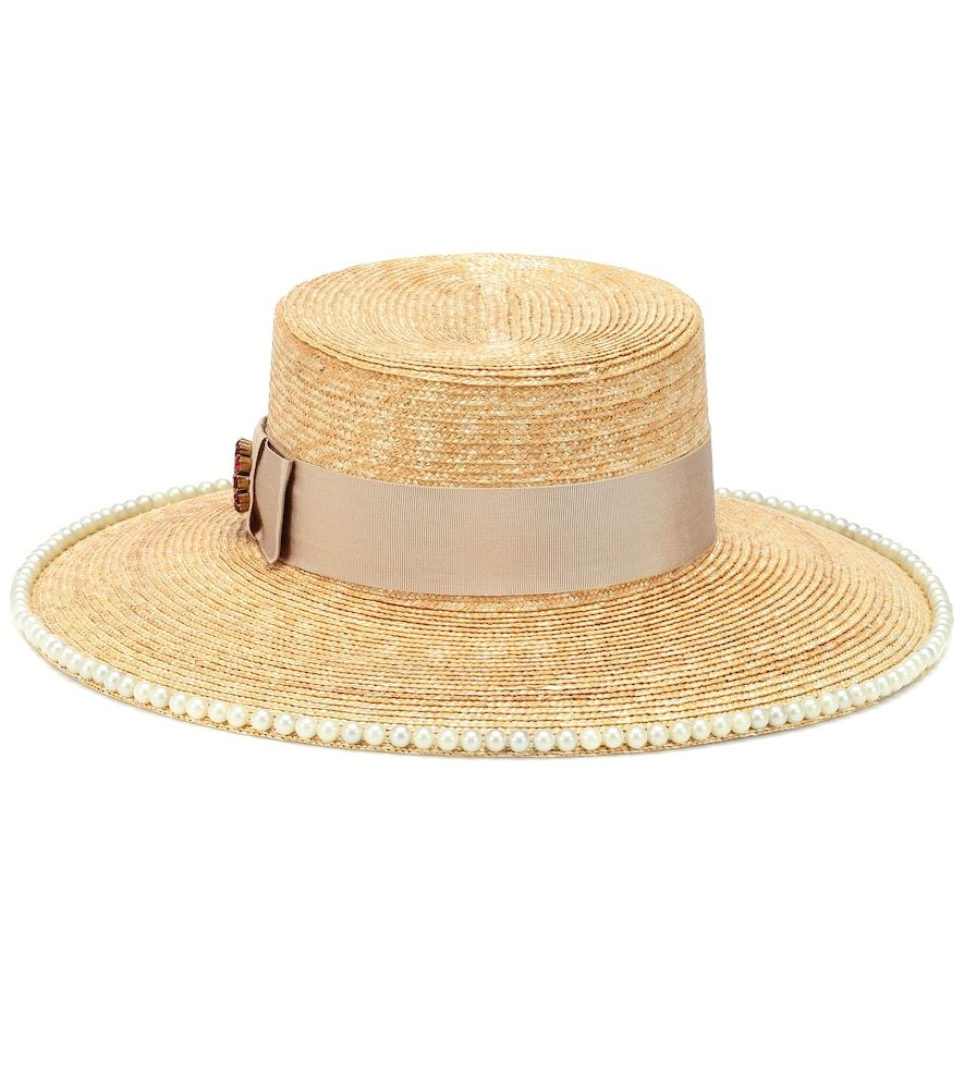 3aaecc35bc6 GUCCI Notte Embellished Straw Hat. #gucci | Gucci in 2019 | Hats ...