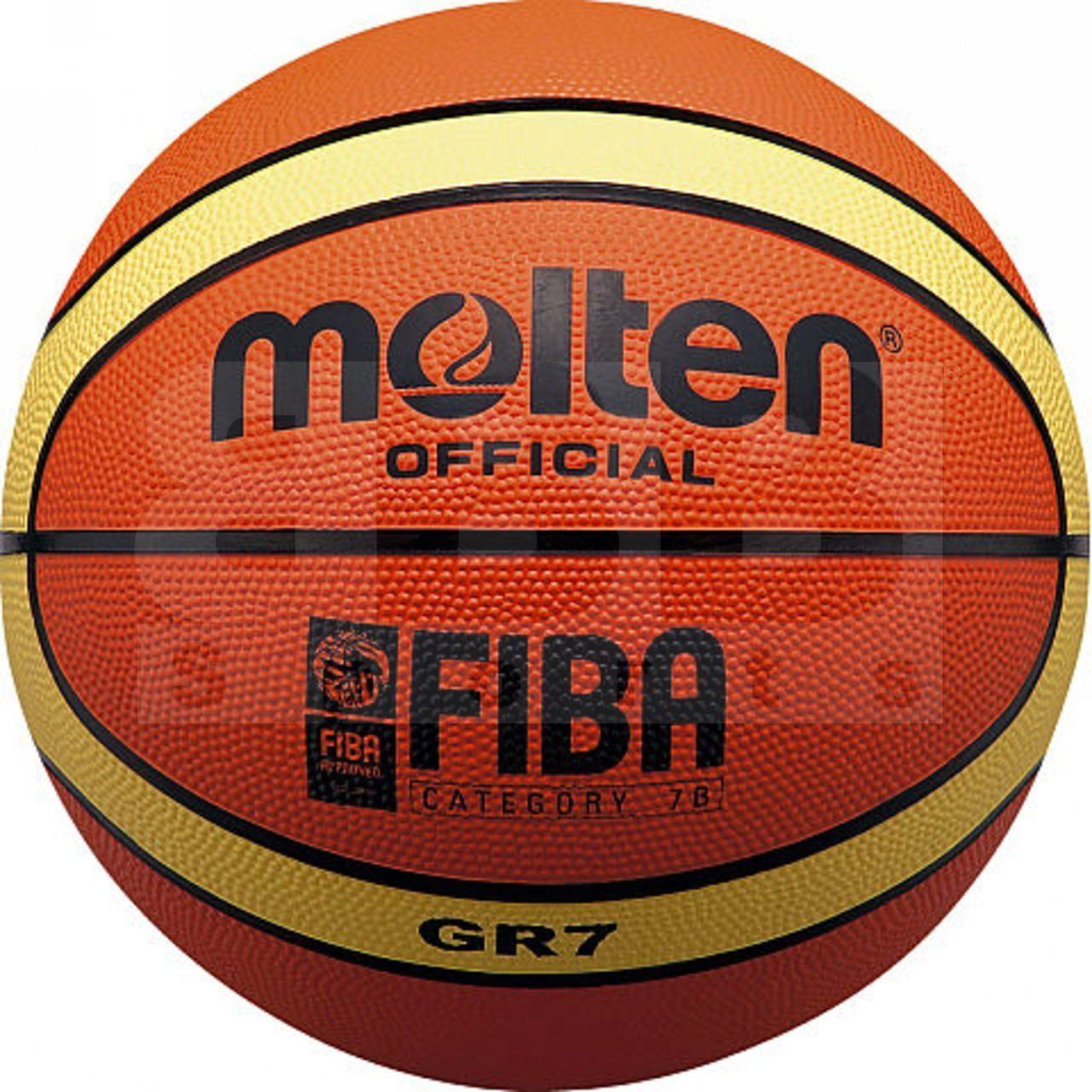 Molten BGR Series Fiba Approved Training//Drill 12 Panel Rubber Basketball