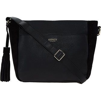 34261453099 Osprey London Black Leather Cross Body Bag   Accessories and ...