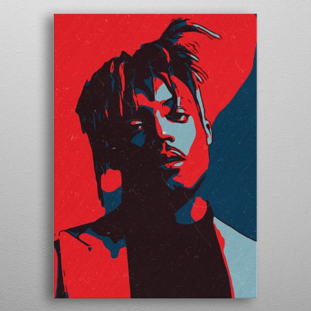 Juice WRLD Artwork. Poster made out of metal. | Displate thumbnail
