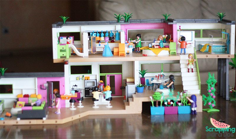 mansi n moderna de lujo playmobil juguetes toys On casa moderna playmobil 5574