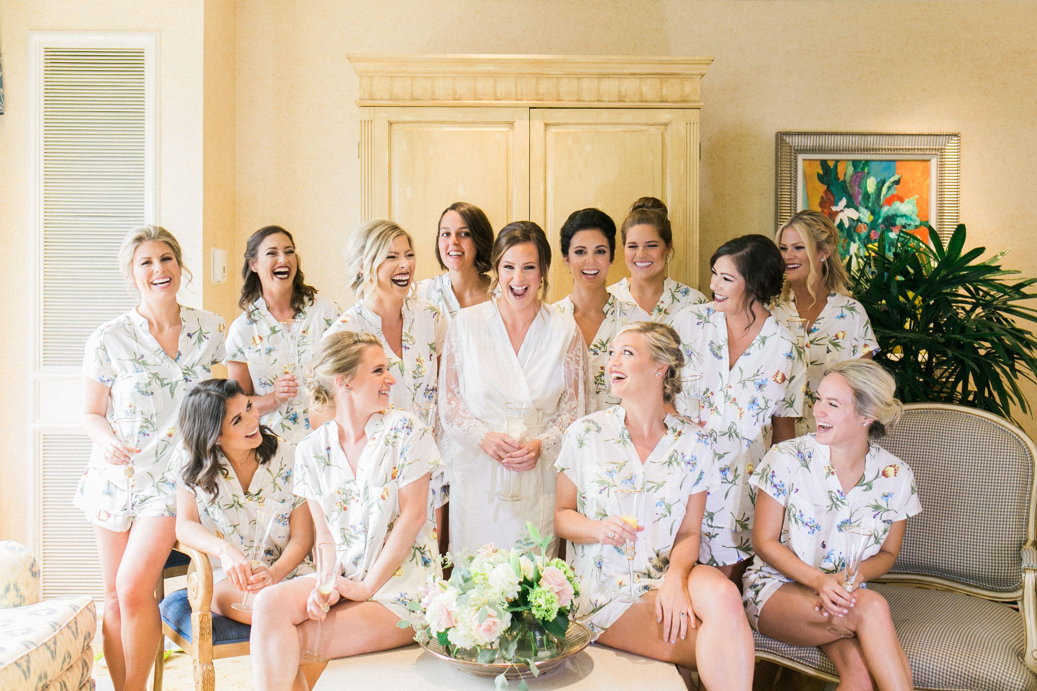 Bridesmaid Pajama Set Wedding Party Ideas Wedding Gifts Bridal