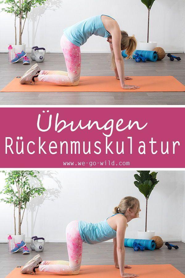 Rückentraining ohne Geräte - 11 effektive Übungen für den Rücken #cardioworkouts Dieses Workout für...