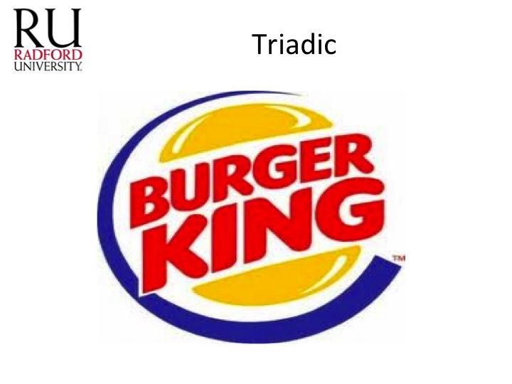 This Burger King Logo Shows The Triadic Color Scheme