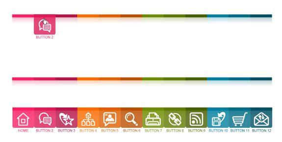 36 Best Menu Designs Template Graphic Design Pinterest Mobile - best of blueprint css menu