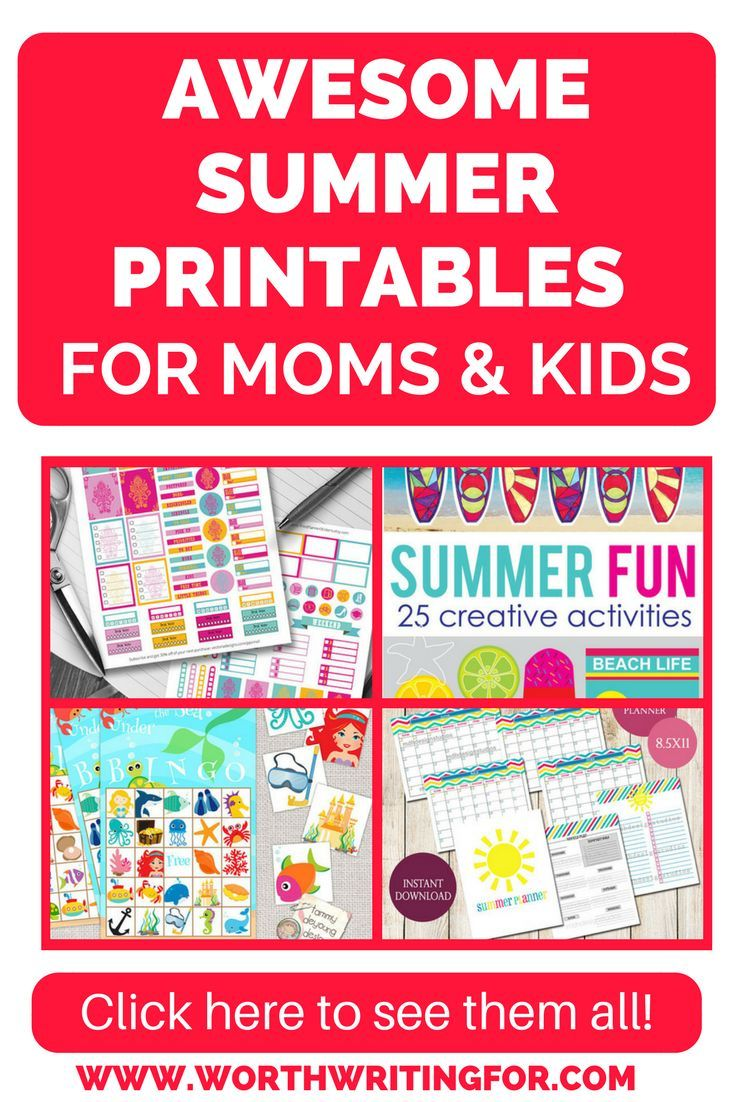 Are you ready to start planning your summer? These summer printables can help! Plan your summer vacation, activities for your kids, meal planning, printable games, and BBQ invitations just to name a few! Check them all out here! | summer printables | printable activities for kids | summer activities | summer planner | trip planner | printable packing list | #printables #summer #summerwithkids #camping #vacation #travelgames #roadtrip