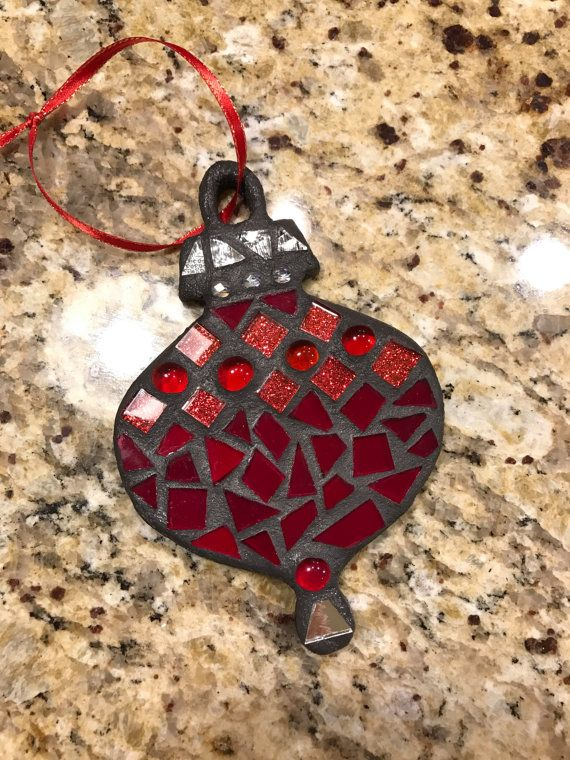 Stained Glass Christmas Ornament Stained Glass by BlueOceanGlass
