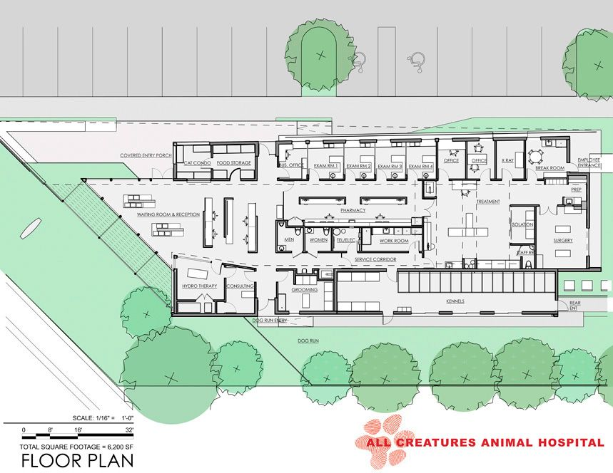 All Creatures Animal Hospital In Stuart Florida Hospital Design Hospital Veterinario Clinica Veterinaria Arquitetura Brasileira