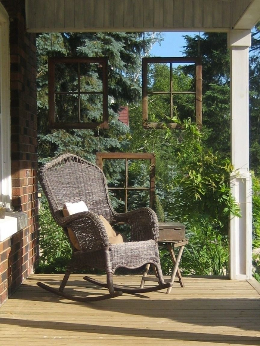 Super Front Porch Rocking Chair Wistereia Growing Through Antique Bralicious Painted Fabric Chair Ideas Braliciousco