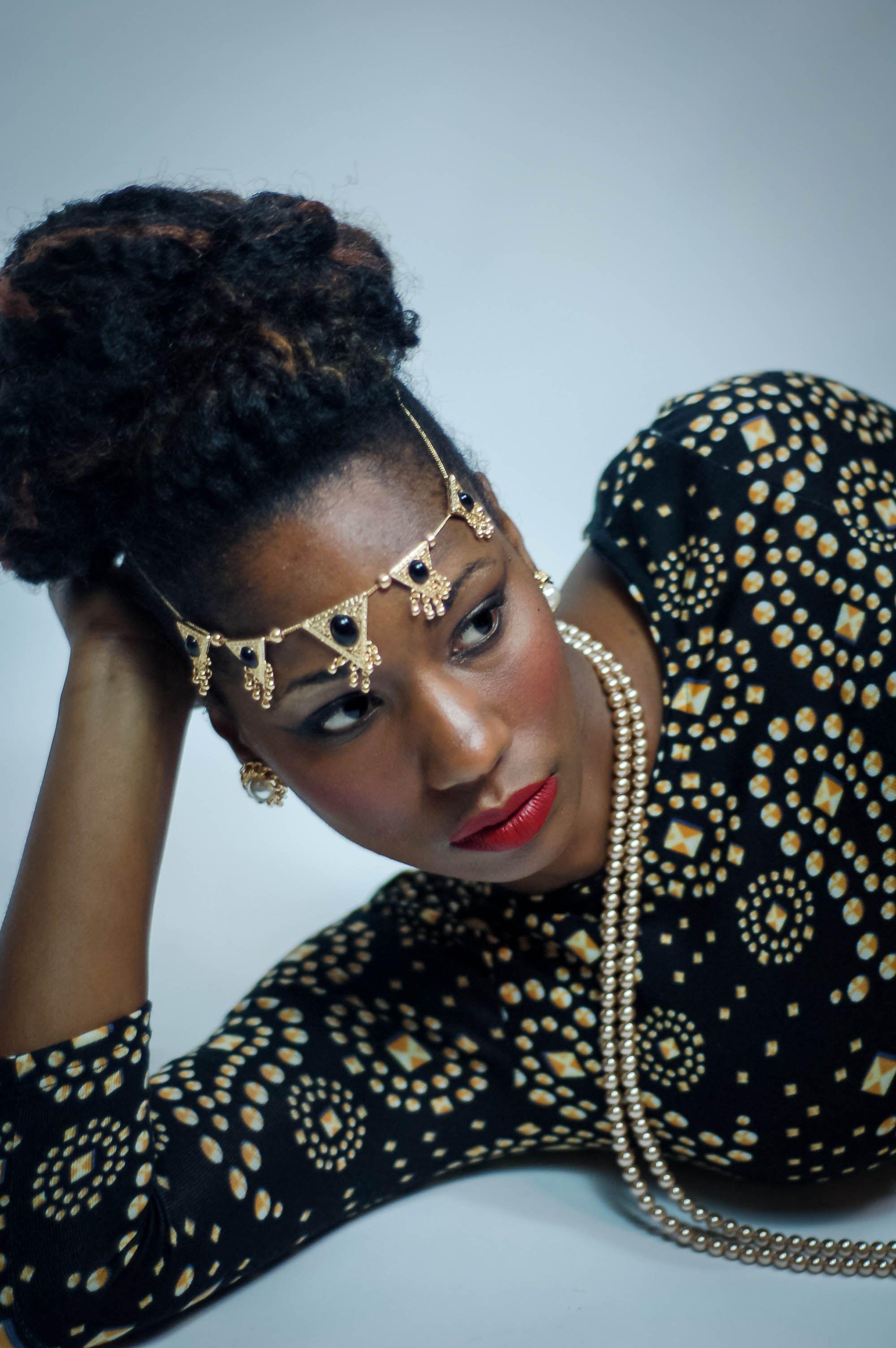 headpiece, african american beauty