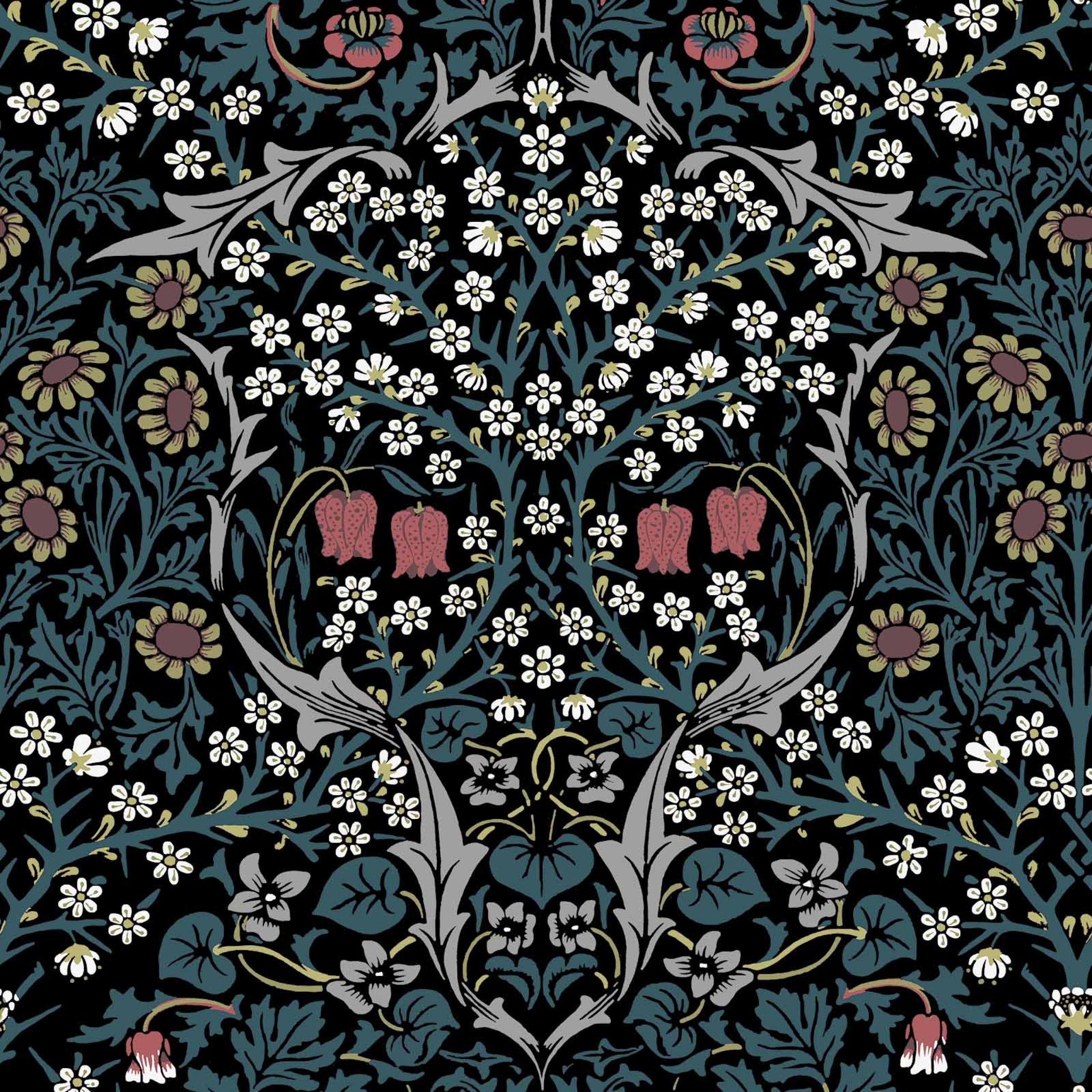 blackthorn_teal.jpg (2560×2560) William morris designs