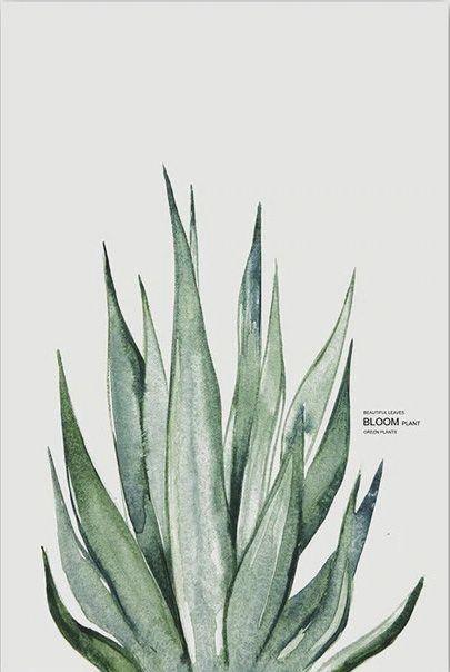 Watercolor Green Plant Art - #watercolorart