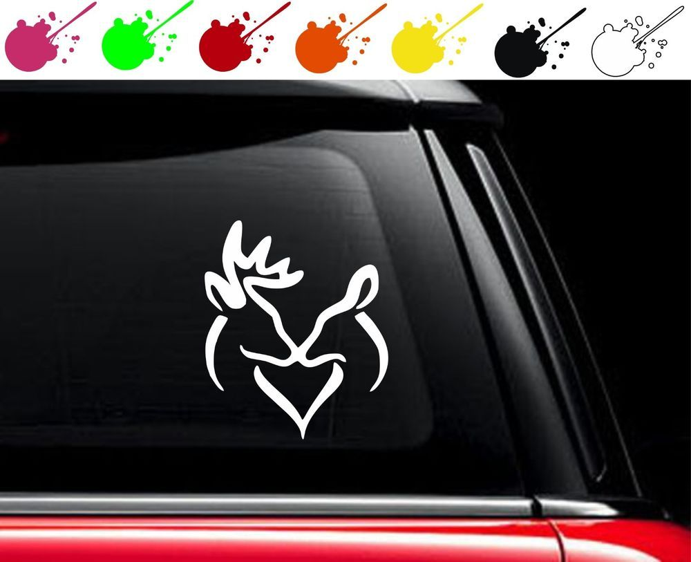 Browning Kiss Heart Vinyl Car Truck Decal Sticker Love Buck Doe - Browning vinyl decals