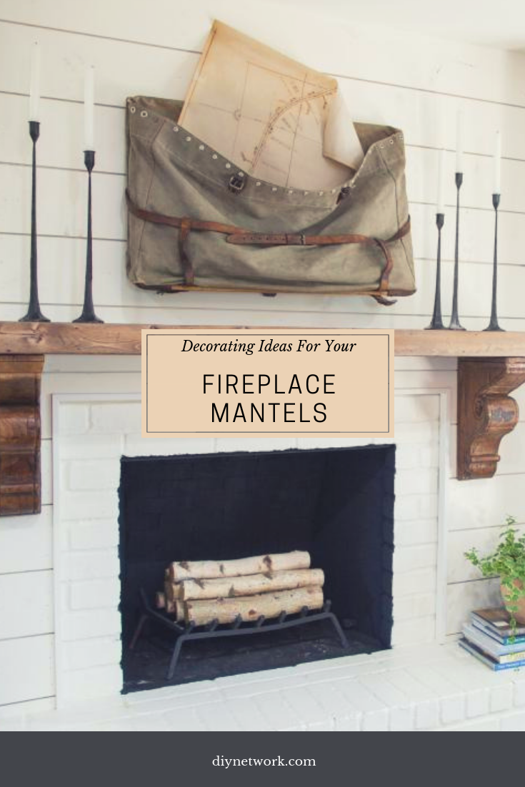 Decorating ideas for fireplace mantels and walls hgtv living rooms