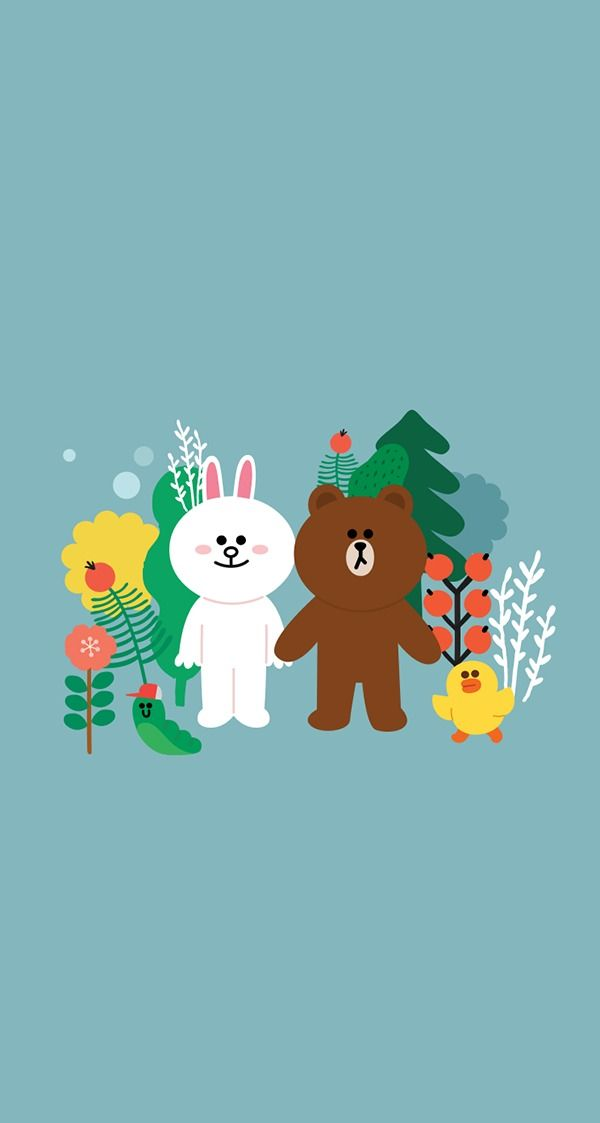 Brown Cony Sally Wallpaper Doodle Illustration Friends Wallpaper Cartoon Background