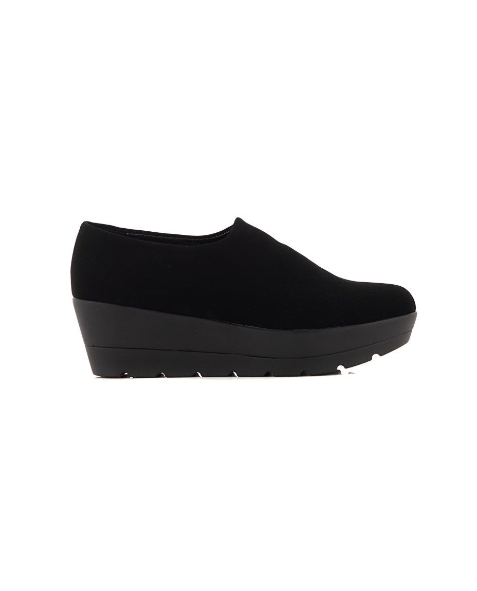 a2e8ef68bf2 NR|RAPISARDI SUEDE SHOES Black suede shoes rubber sole conical toe Wedge: 5  cm