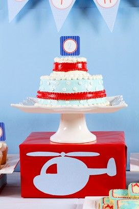 Helicopter birthday party ideas | A Party Studio