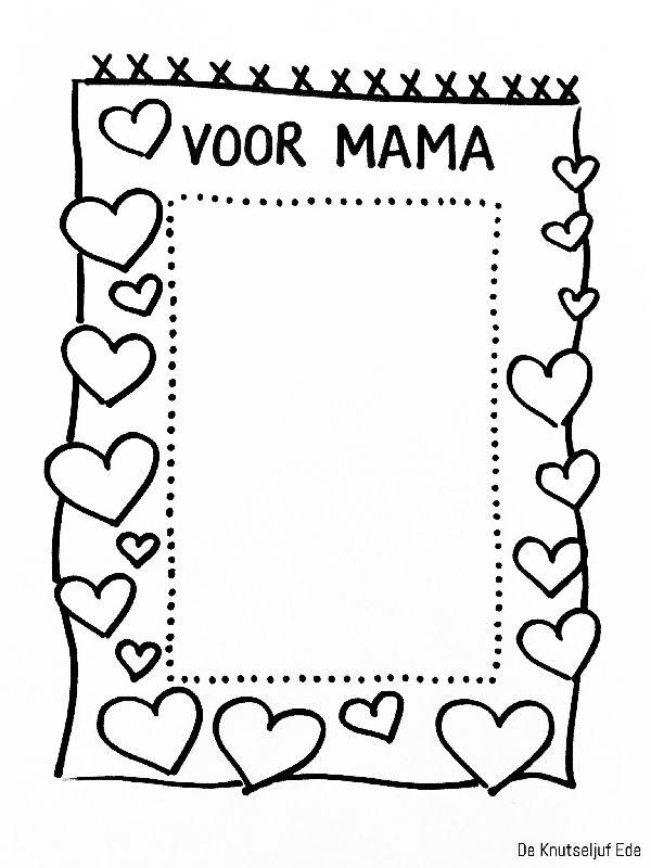 Mooie Kleurplaten Voor Moederdag.Voor Mama Fotolijstjes Om Te Kleuren Voor Moederdag Kleurplaat