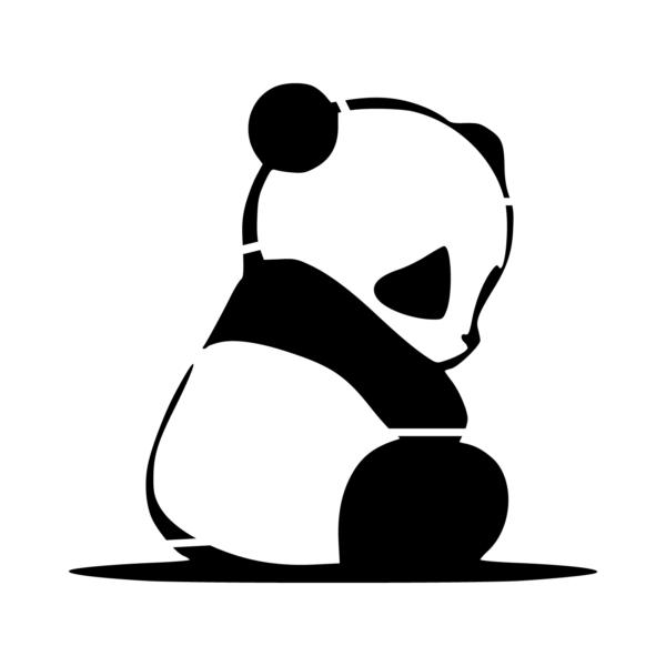 Panda Stencil Diy Clothes Tattoos Animal Tattoos Et Henna