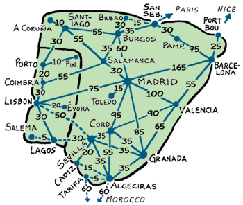 Map Of Spain Train Routes.Portugal Spain Portugal Spain Rail Passes And Train Tips From Rick