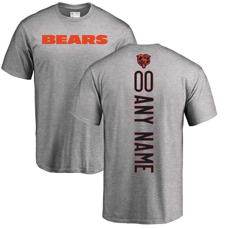 size 40 fc2fd 41d2b Chicago Bears NFL Pro Line Personalized Backer T-Shirt - Ash ...