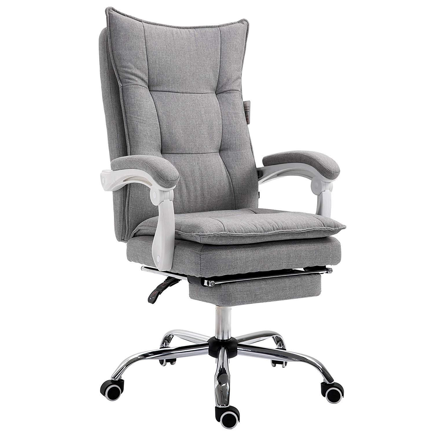 Executive double layer padding recline office desk chair