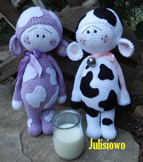 Crochet pattern. Dolls - PDF pattern. Muu and Lilka. Crochet dolls ...