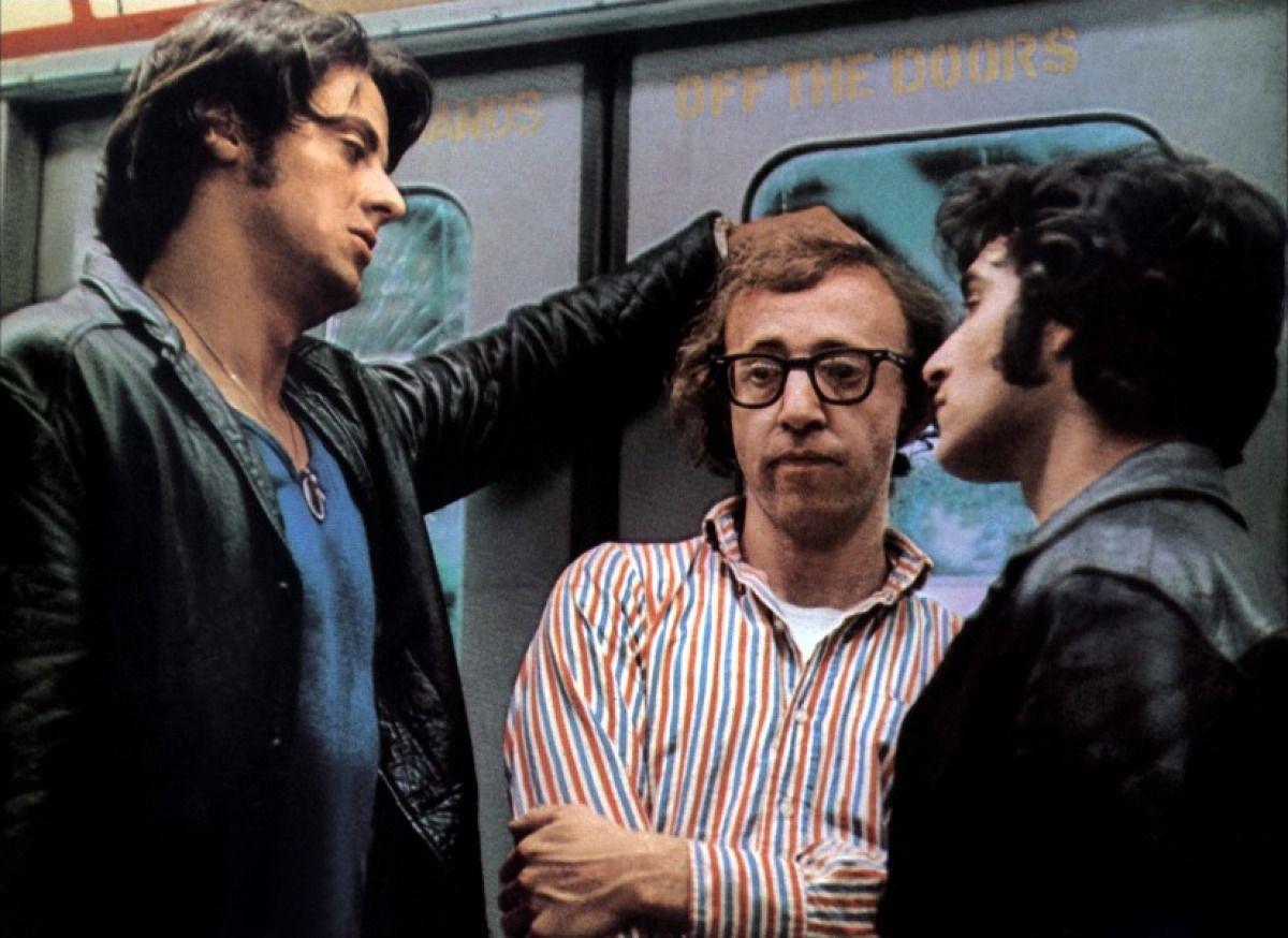 "Bananas"" movie still, 1971. L to R: Sylvester Stallone, Woody ..."