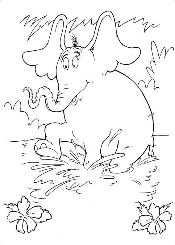 coloring page Horton Dr. Seuss Horton Dr. Seuss Things