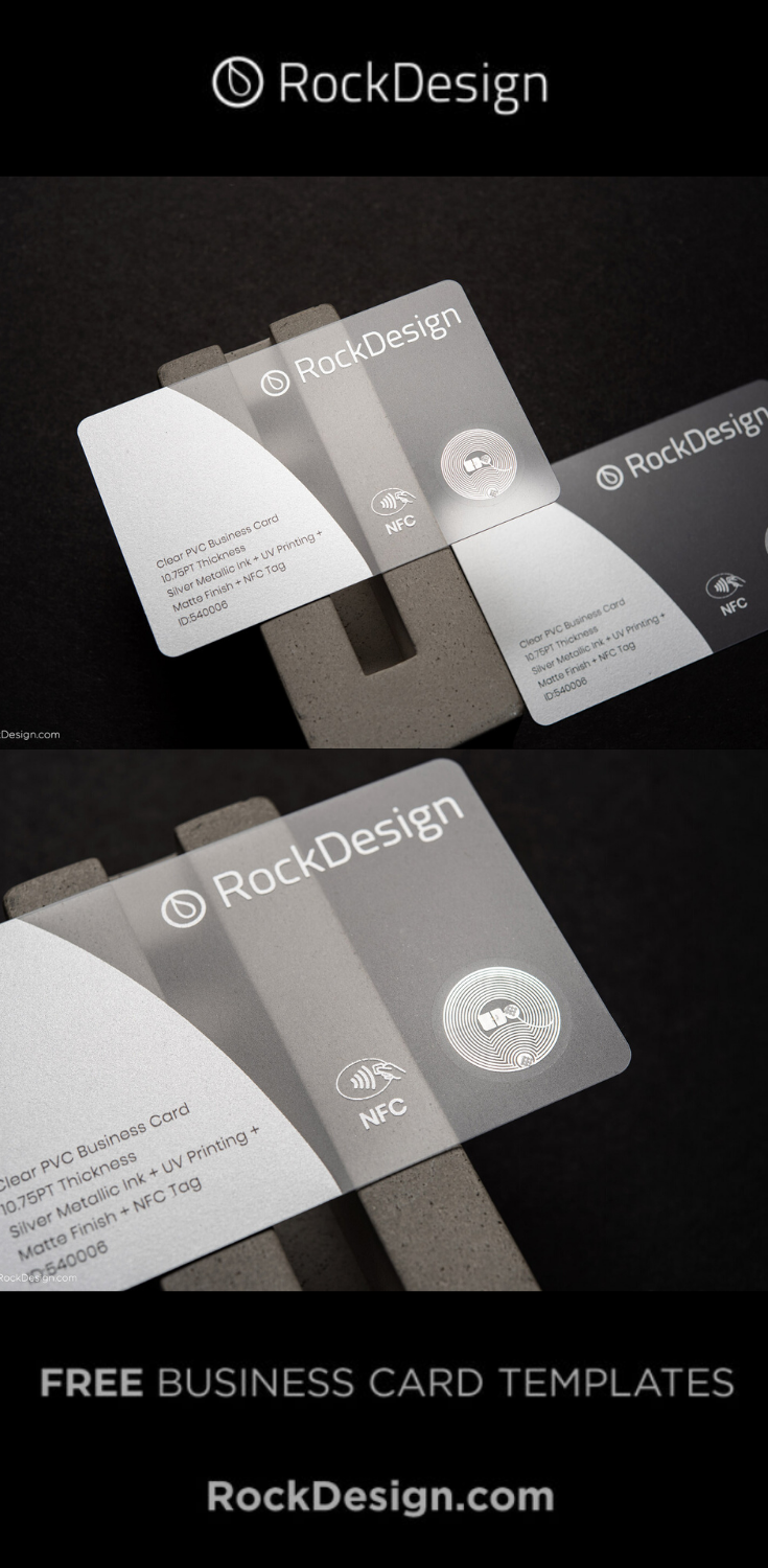 Smart Silver Plastic Business Card Template Design Nfc Free Business Card Templates Plastic Business Cards Business Card Template Design
